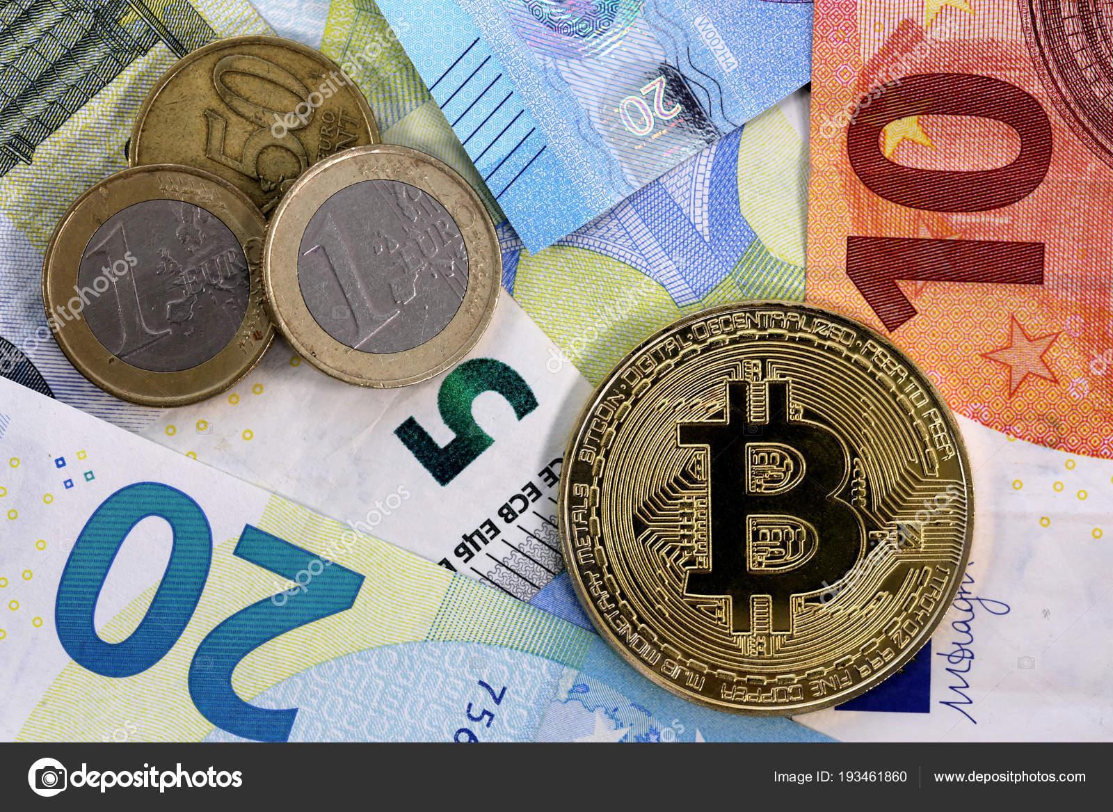 Bitcoin Eu Euro Und Cent Münze Redaktionelles Stockfoto Belish