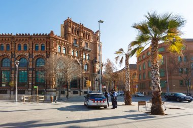 Cops on the streets of Barcelona