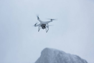 Drone in mountains