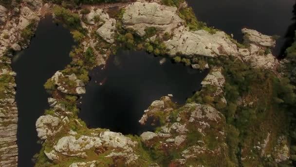Letecký pohled na hory jezer
