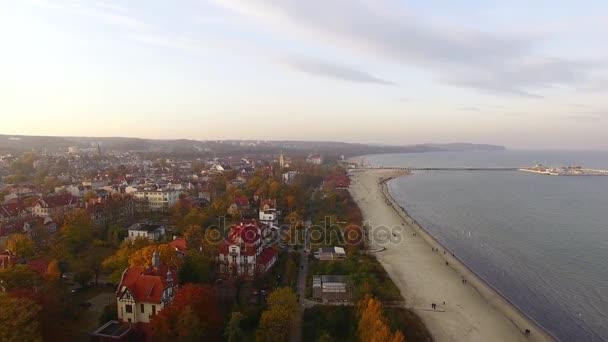 Pláž Sopot, pohled shora