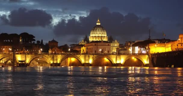 The Saint Peters Basilica in Vatican after sunset