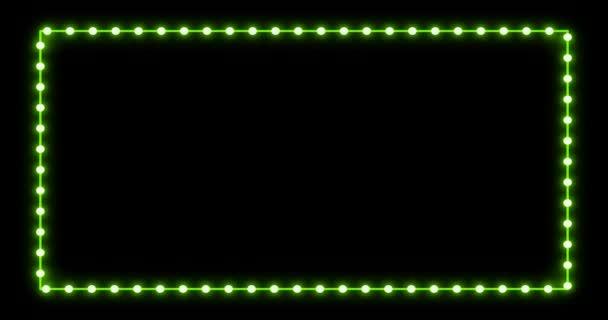 Neon frame light animation footage amazing design