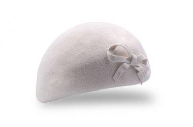 white beret isolated on white isolated