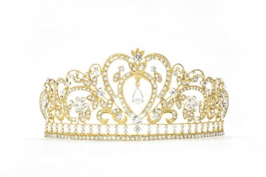 golden crown on a white background