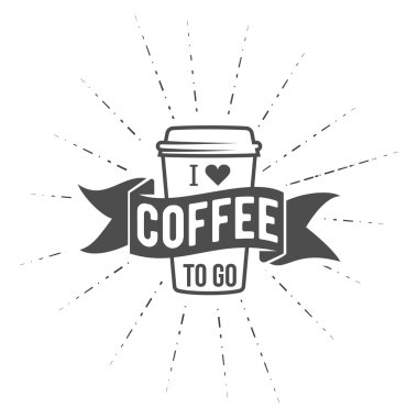 Coffe to go badge