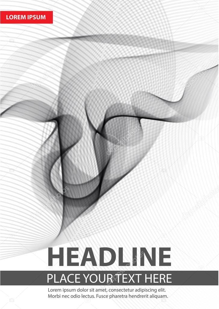 Moderno catálogo, informe o folleto diseño plantilla — Vector de ...