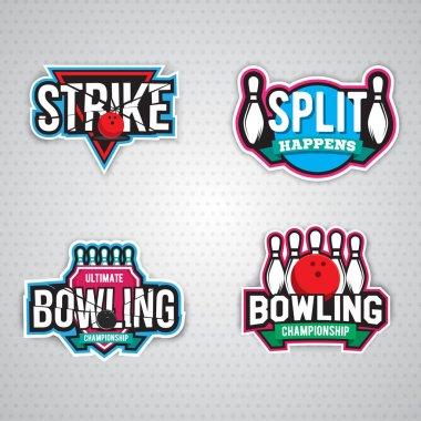 bowling championship logo design