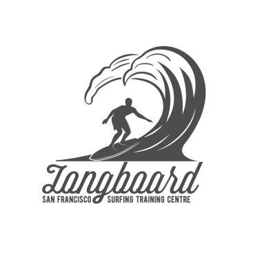 Vintage surfing logotype