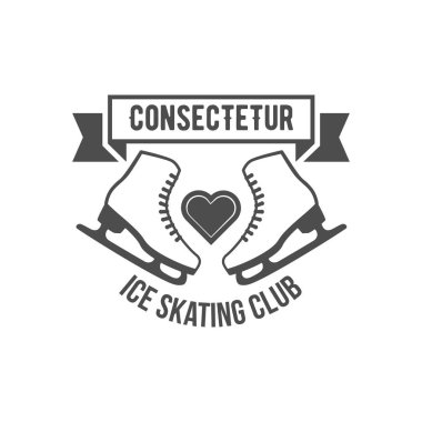 Ice Skate label logotype design