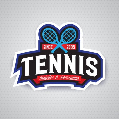badge logo template for tennis club