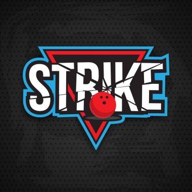 Colorful bowling logo