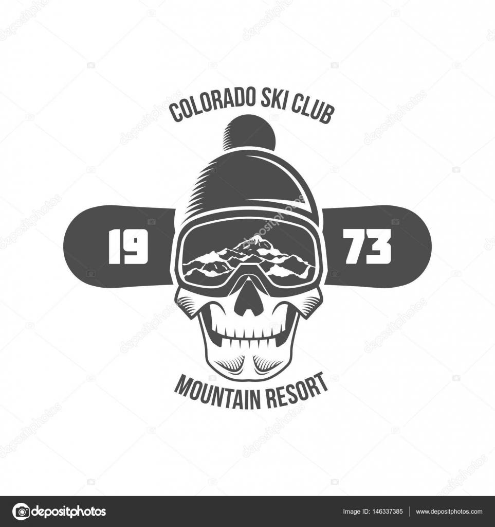 690edf9bd00f Snowboarding logo and label template. Retro logo design. Vector  illustration — Vector by ...