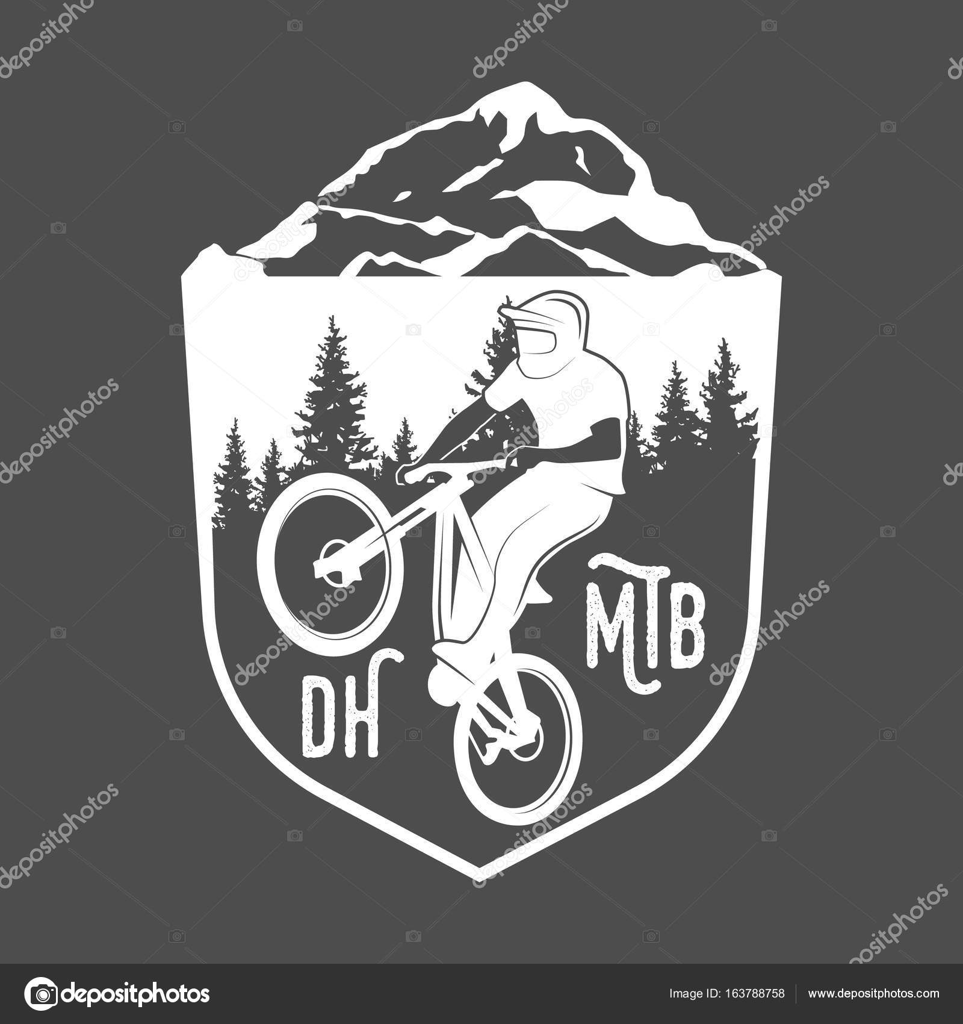 Mountain Bike Badges Stock Vector C Nappelbaum 163788758