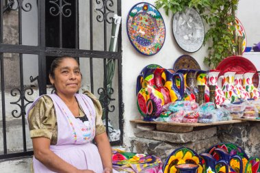 Traditional mexican crafts vendors at taxco guerrero.