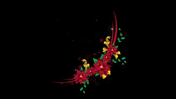 New Beautiful Christmas Wreath Animation with Alpha Channel