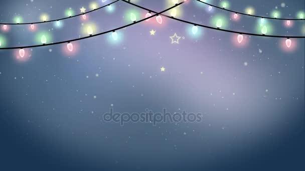 Weihnachtsgirlande geschlungene animierte Hintergrund — Stockvideo ...