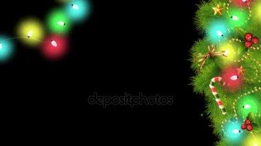 Zwart Wit Kerstdecoraties : Kerst decoraties en tenis bal u2014 stockvideo © joophoek #59867405