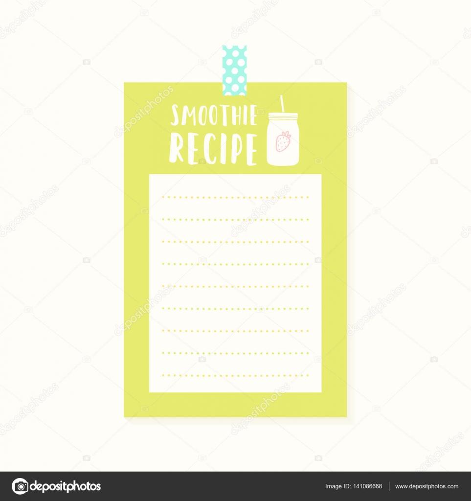 Smoothie-Rezept-Karte — Stockvektor © kondratya #141086668