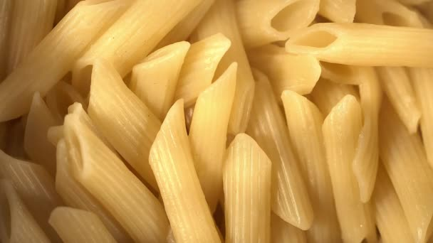 Close up shot of pasta penne