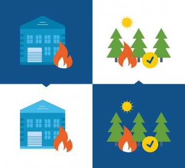 Protection, security of property, forests from fires, home insurance, .