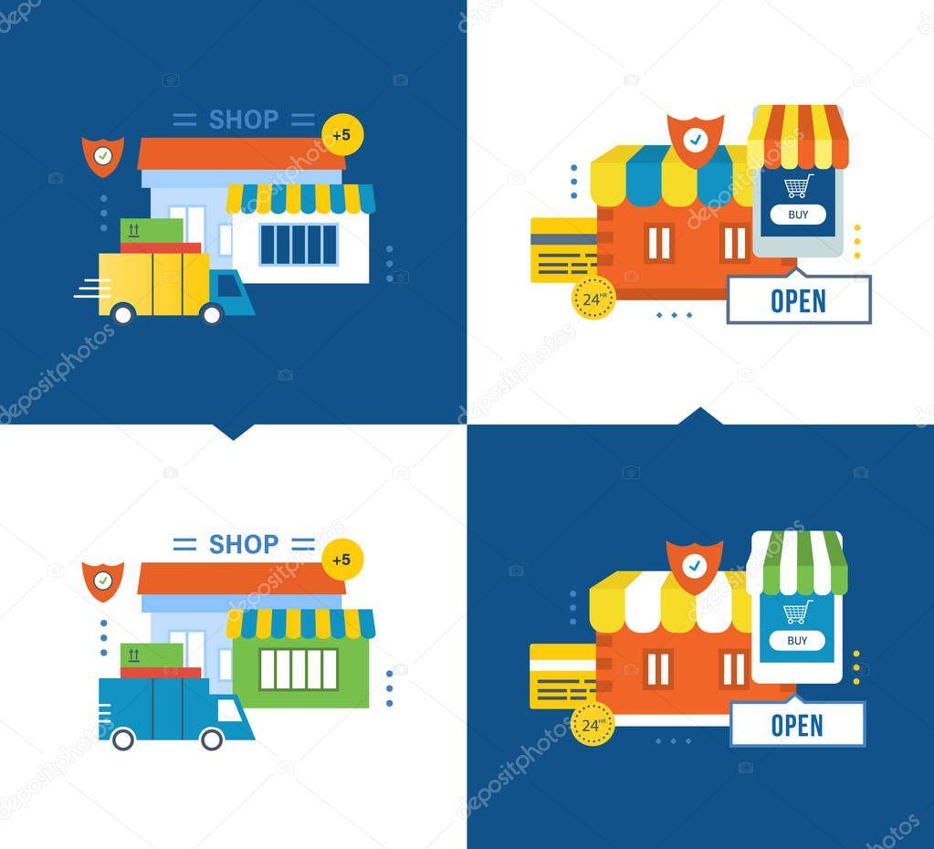 d8fe85a476 Completa il ciclo di acquisizione del prodotto: la scelta di merci e  pagamento della merce alla consegna. Manutenzione e pagamento sicuro,  mobile marketing.