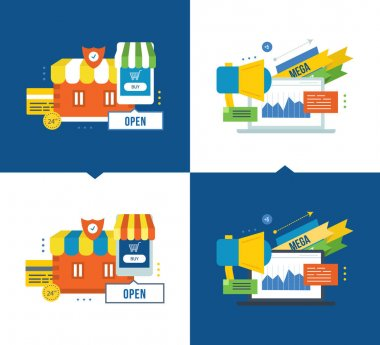 Online buying and secure payments, media, communications, promotions  discounts