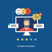Koncepce, zákazníků, obchodu, zpětnou vazbu, hlasování a hodnocení