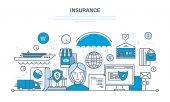 Fotografia Assicurazione immobiliare e proprietà, garantire la sicurezza dei depositi finanziari, risparmio