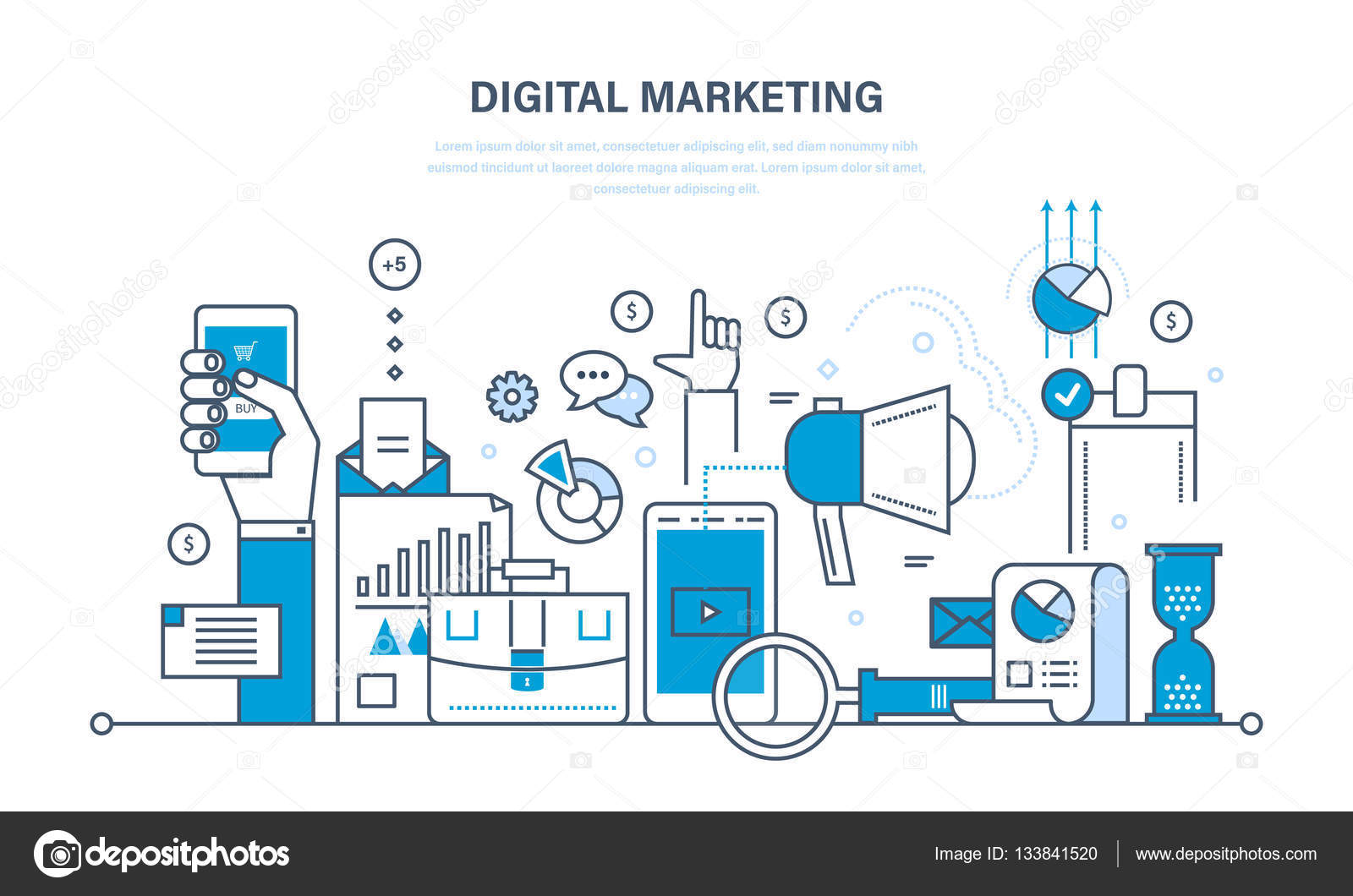 Digital marketing, finance, analysis, statistics, technology ...