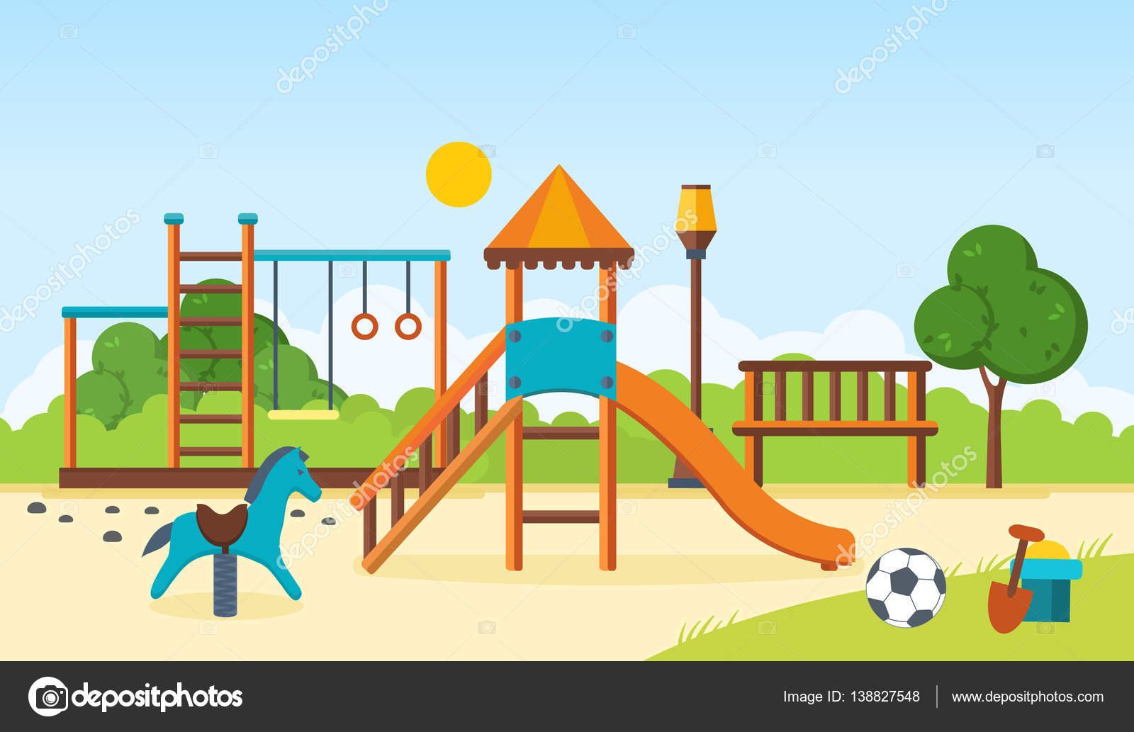 Barras horizontales, juegos infantiles, columpios, a pie de parque ...