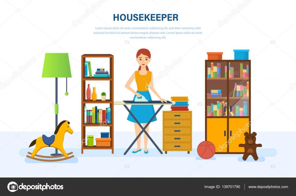 Joven ama de casa dedicada a las tareas del hogar for Cosas del hogar online