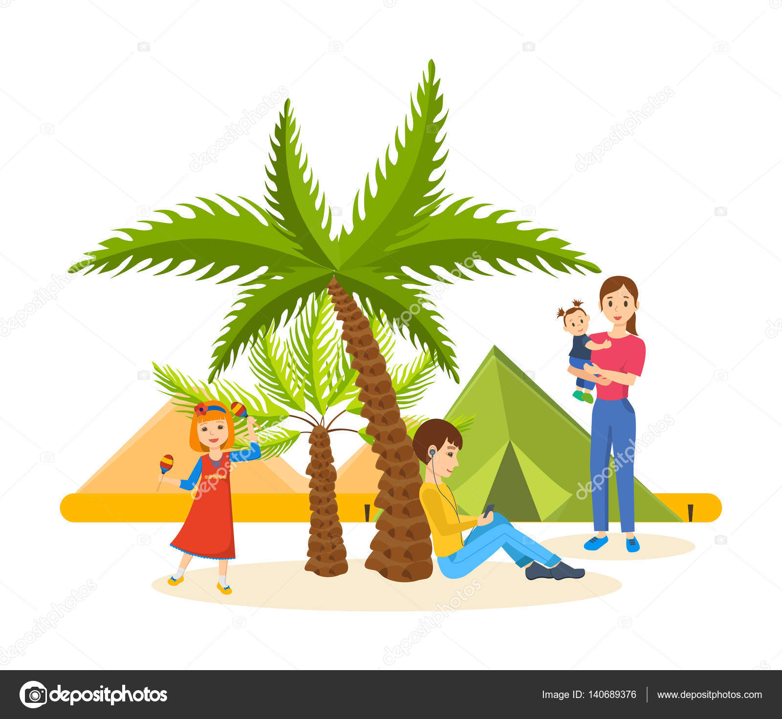 summer journey together in warm country vacation in good mood