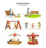 Fotografie Wandern mit den Kindern an der frischen Luft, Radfahren, Kreisverkehre.