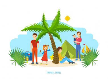 Summer travel - family trip to warm country, common recreation.