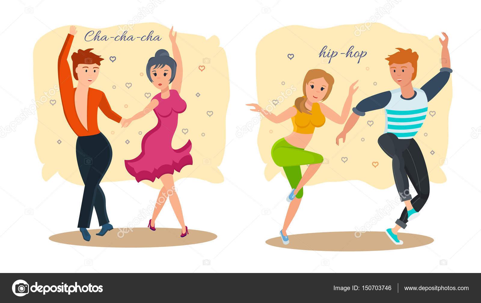parejas de danza moderna tipos de bailes cha cha ch u00e1 dance vector clip art dance victory of sompek