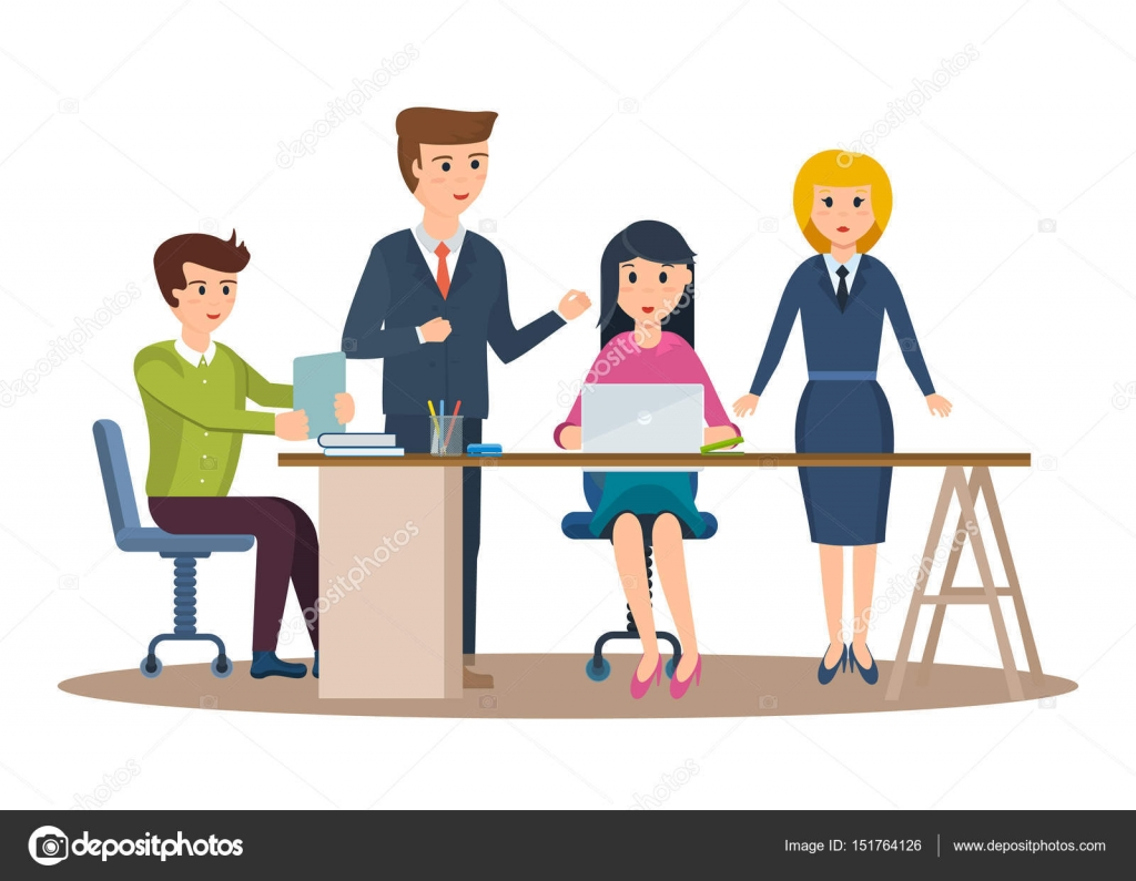 Personajes De Negocios Trabajando En Oficina, Emprendedor