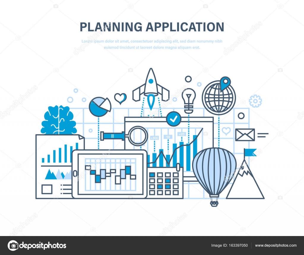 Planning application. Programming and coding online, desktop app ...