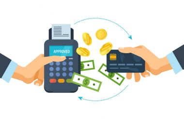 Concept of pos terminal and payments systems. Financial transactions.