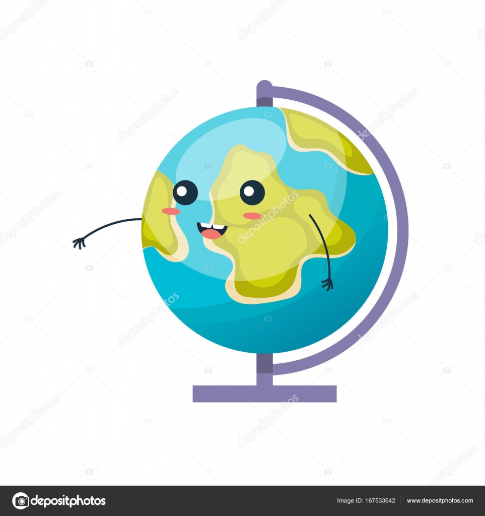 Earth globe planet funny colorful globe with hands up smiling school funny office supplies earth globe planet map of continents of world happy globe with face cartoon school character globe with hands up gumiabroncs Choice Image