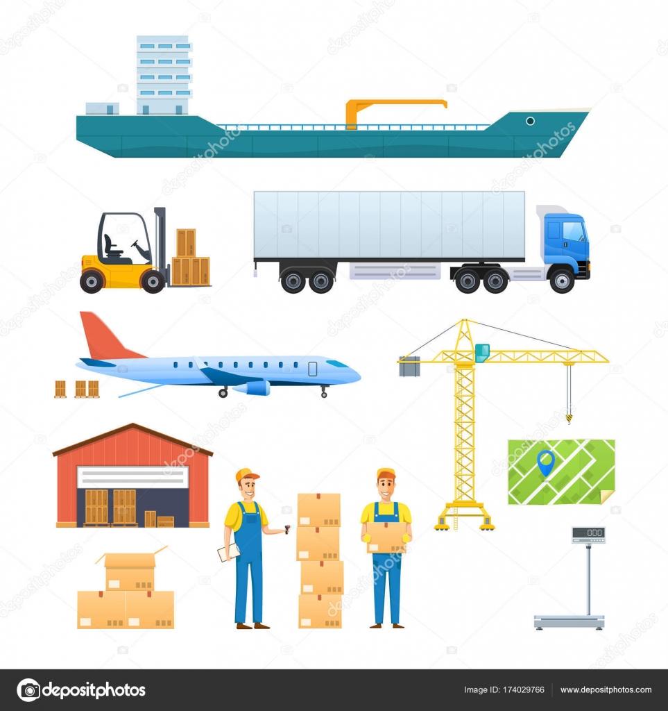 Dibujos Transportes Terrestres Aereos Y Maritimos Logística Y