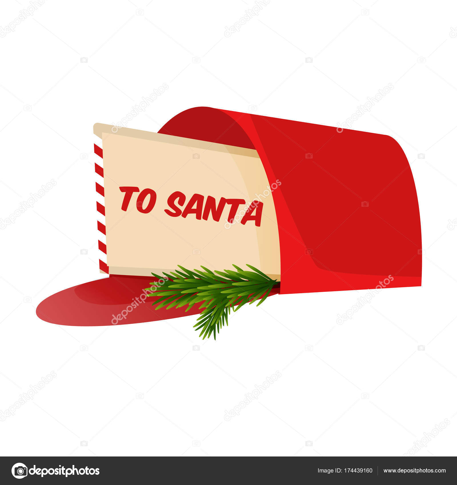 Christmas Holiday Request Letter.Christmas Letter To Santa Claus In The Mailbox Stock