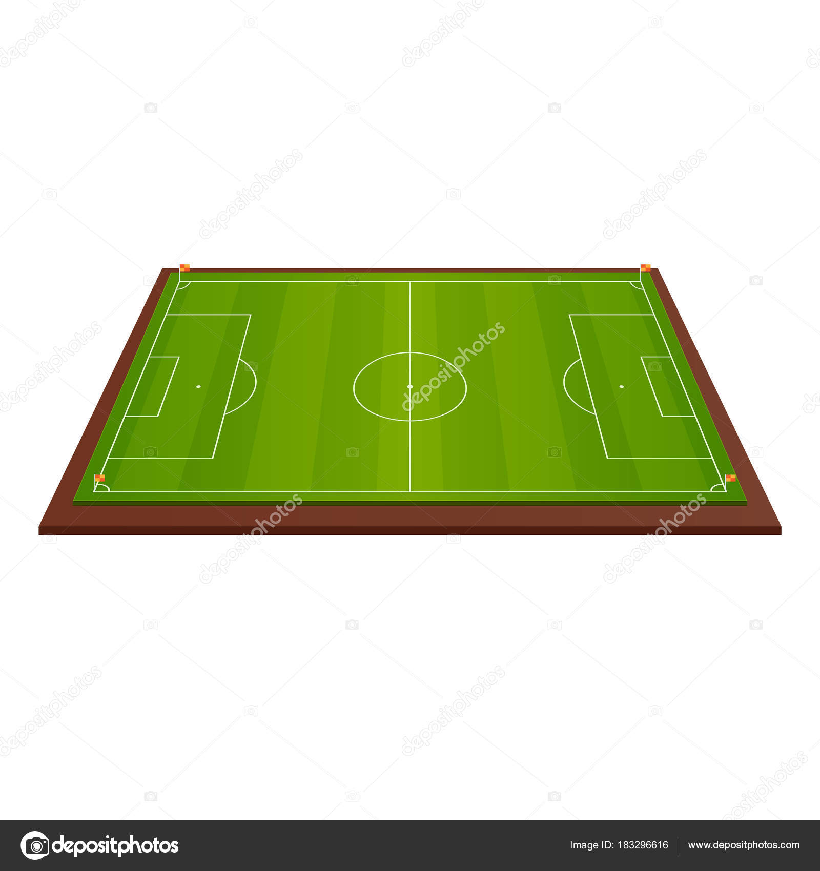realistic football field template playground with green grass and rh depositphotos com football field vector file vector football field free