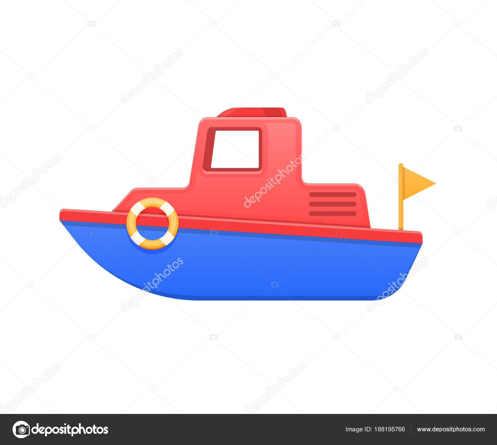 Modern colorful children s toys. Beautiful children s colored boat ...