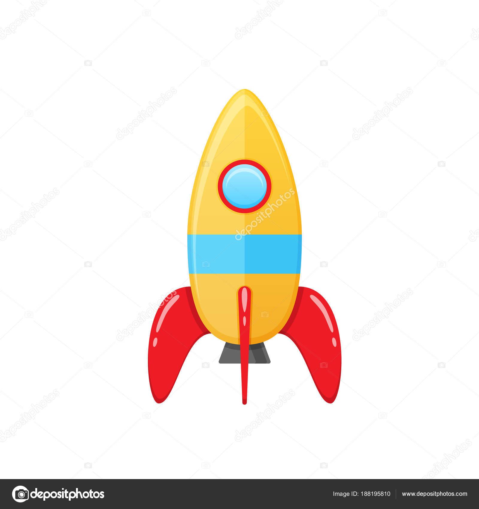 Moderne Bunte Kinder S Spielzeug Rakete Mit Einem Runden Fenster