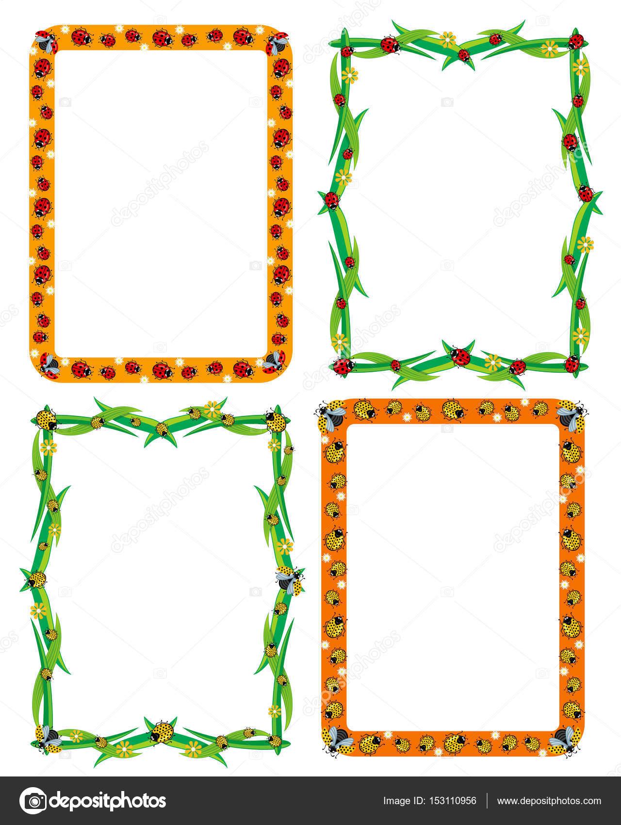 Plantilla, marco, frontera para decoración o invitación tarjetas con ...