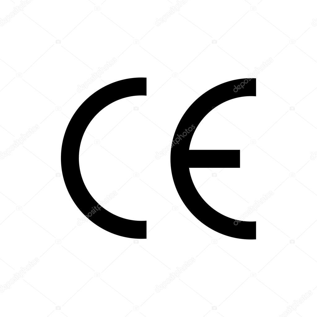 ce mark symbol black colored on white background stock vector rh depositphotos com