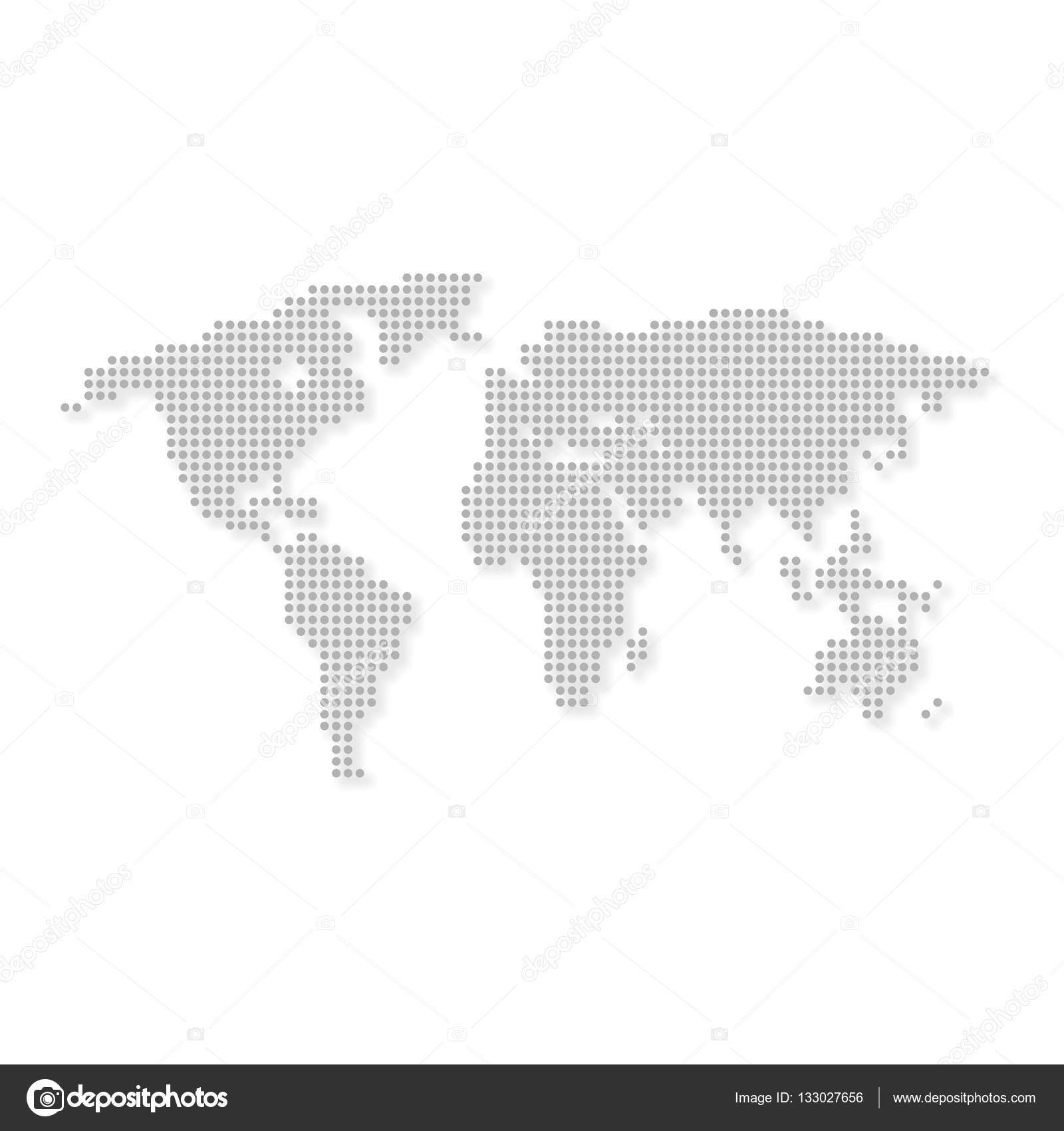 World map grey colored with circle on white background stock world map grey colored with circle on white background stock vector gumiabroncs Choice Image
