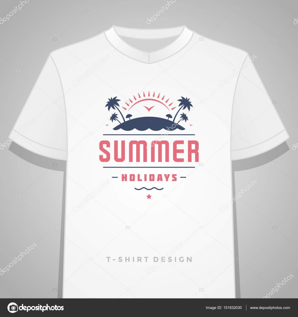Summer Holidays Typography Tee Shirt Print Graphics Template Vector - T shirt print out template