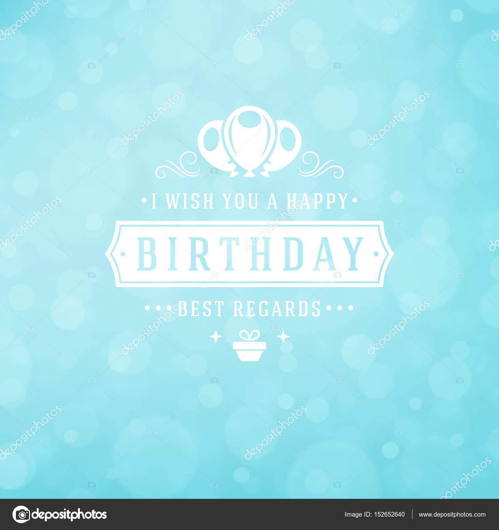 Happy Birthday Greeting Card Design Vector Template Stock Vector